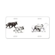 Cute Herd Aluminum License Plate