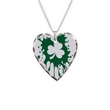 Irish Shamrock Splat Necklace
