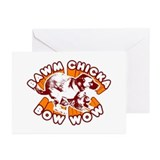 Funny Bow chicka bow wow Greeting Cards (Pk of 10)
