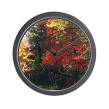New England Foliage Wall Clock
