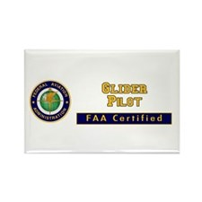 Glider Pilot Rectangle Magnet (10 pack)