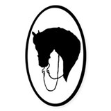 Western Horse Head - Oval Decal