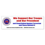 SEAR Supports Our Troops! Bumper Car Sticker