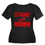 Stand with Wisconsin: Women's Plus Size Scoop Neck