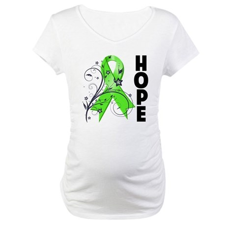 Hope NonHodgkins Lymphoma Maternity T-Shirt