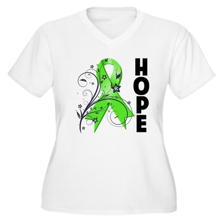 Hope NonHodgkins Lymphoma Women's Plus Size V-Neck
