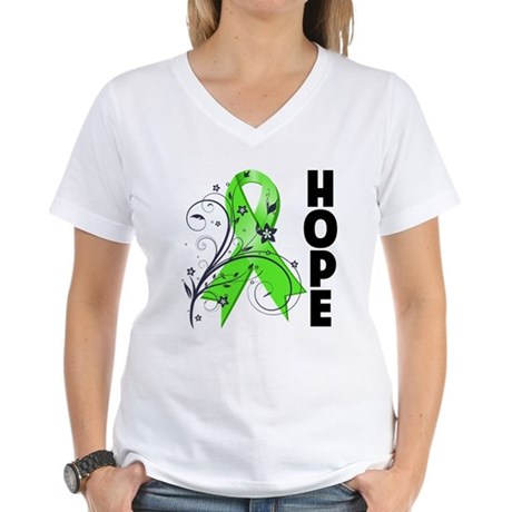 Hope NonHodgkins Lymphoma Women's V-Neck T-Shirt