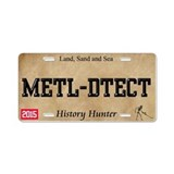 metal detecting License Plate