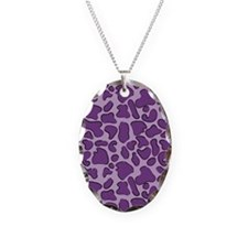 Purple Outline Leopard Print Necklace