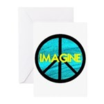 IMAGINE with PEACE SYMBOL Greeting Cards (Pk of 20