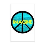 IMAGINE with PEACE SYMBOL Mini Poster Print