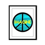 IMAGINE with PEACE SYMBOL Framed Panel Print