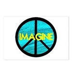 IMAGINE with PEACE SYMBOL Postcards (Package of 8)