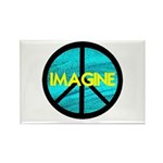 IMAGINE with PEACE SYMBOL Rectangle Magnet (10 pac