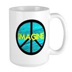 IMAGINE with PEACE SYMBOL Large Mug