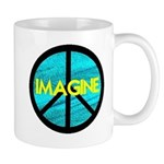IMAGINE with PEACE SYMBOL Mug