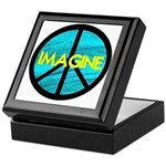 IMAGINE with PEACE SYMBOL Keepsake Box