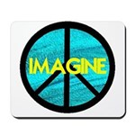 IMAGINE with PEACE SYMBOL Mousepad