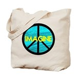 IMAGINE with PEACE SYMBOL Tote Bag