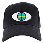 IMAGINE with PEACE SYMBOL Black Cap