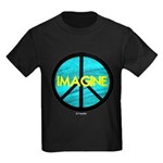 IMAGINE with PEACE SYMBOL Kids Dark T-Shirt