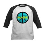 IMAGINE with PEACE SYMBOL Kids Baseball Jersey