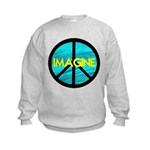 IMAGINE with PEACE SYMBOL Kids Sweatshirt