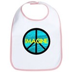 IMAGINE with PEACE SYMBOL Bib