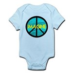 IMAGINE with PEACE SYMBOL Infant Bodysuit