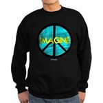 IMAGINE with PEACE SYMBOL Sweatshirt (dark)
