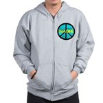 IMAGINE with PEACE SYMBOL Zip Hoodie