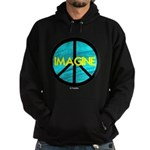 IMAGINE with PEACE SYMBOL Hoodie (dark)