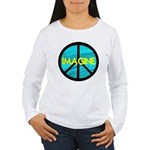 IMAGINE with PEACE SYMBOL Women's Long Sleeve T-Sh