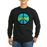 IMAGINE with PEACE SYMBOL Long Sleeve Dark T-Shirt