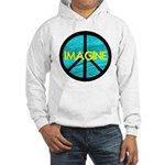 IMAGINE with PEACE SYMBOL Hooded Sweatshirt