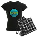 IMAGINE with PEACE SYMBOL Women's Dark Pajamas