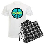 IMAGINE with PEACE SYMBOL Men's Light Pajamas