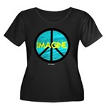 IMAGINE with PEACE SYMBOL Women's Plus Size Scoop