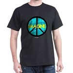 IMAGINE with PEACE SYMBOL Dark T-Shirt