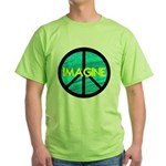 IMAGINE with PEACE SYMBOL Green T-Shirt