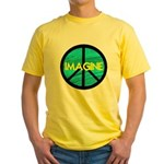 IMAGINE with PEACE SYMBOL Yellow T-Shirt