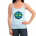 IMAGINE with PEACE SYMBOL Jr. Spaghetti Tank
