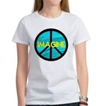 IMAGINE with PEACE SYMBOL Women's T-Shirt