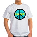 IMAGINE with PEACE SYMBOL Light T-Shirt