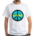 IMAGINE with PEACE SYMBOL White T-Shirt