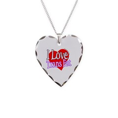 I Love Trans Fat Necklace Heart Charm