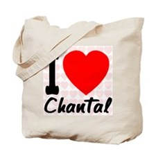I Love Chantal Tote Bag