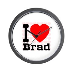 I Love Brad Wall Clock