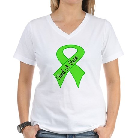 Find a Cure Non-Hodgkins Women's V-Neck T-Shirt
