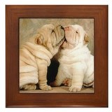 SHAR PEI PUPPY LOVE Framed Tile